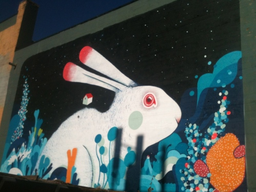 Mural Rabbit Attack