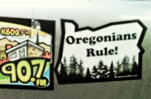 Oregonians Rule decal