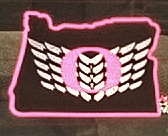 pink U of O decal