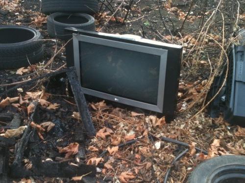 TV crap pile