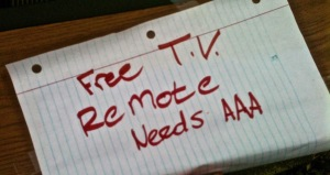 TV note