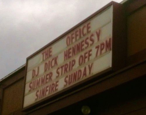 The Office Marquee close up