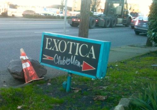 exotica entrance sign