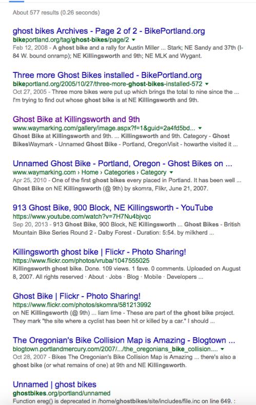 Ghost Bike Google