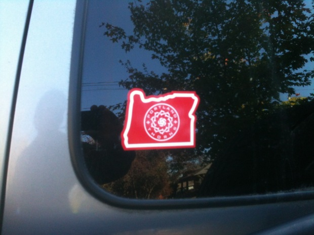 Every portland sports team does the oregon decal with gusto thorns psu vikings and rip city