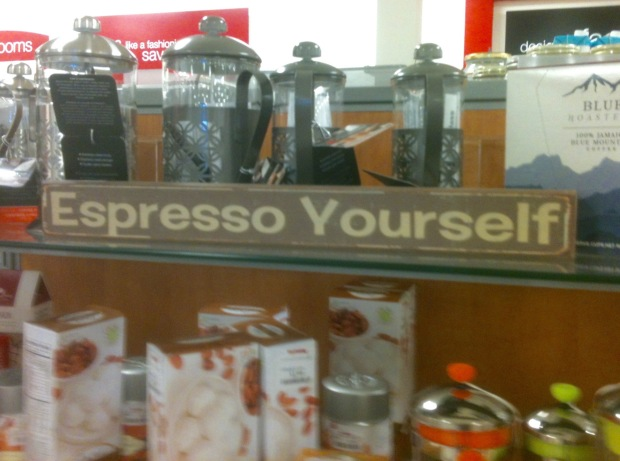 Expresso Yourself sign