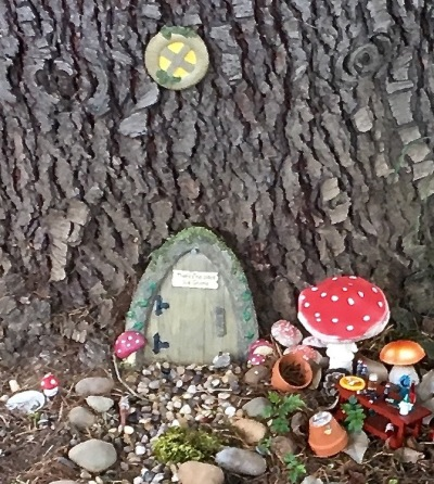 Main entrance to the miniature Gnome condo.