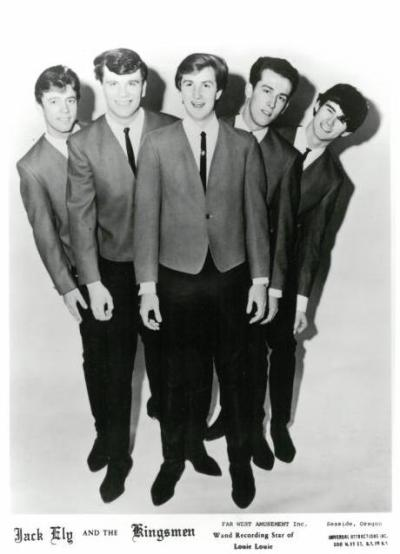 promotional photograph of Jack Ely and the Kingsmen with band members smiling in jackets and ties