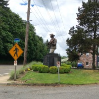 Campus Security: A Soldier Statue